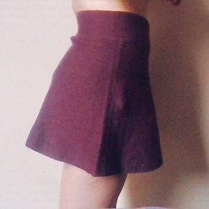 Aritzia Talula Burgundy Skirt